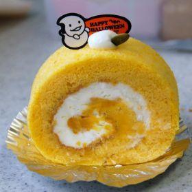 「かぼちゃロール」桜ぱんだ | お菓子・パンのレシピや作り方【corecle*コレクル】