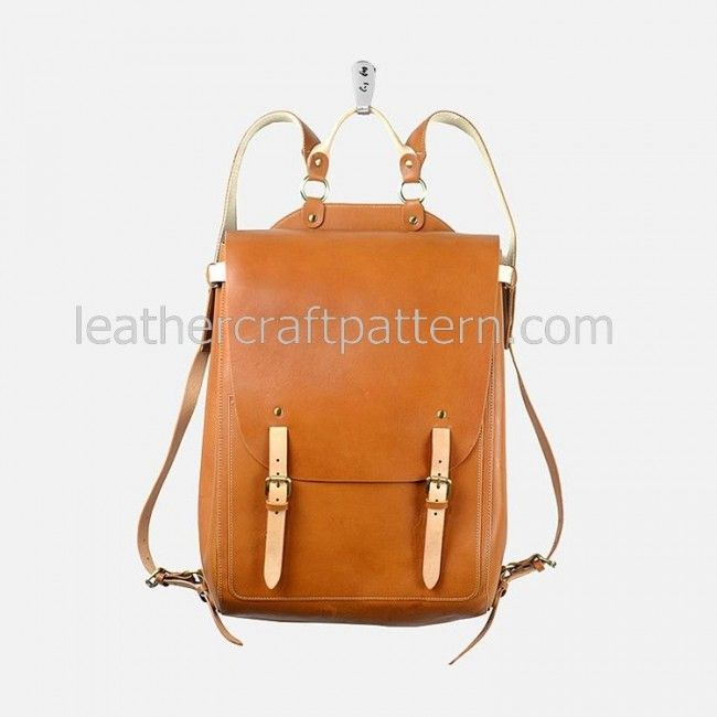 Leather bag pattern backpack pattern bag sewing pattern PDF instant download ACC-64