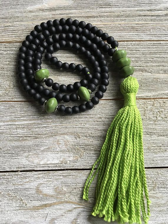 Matte Black Onyx Mala Necklace 108 Beads Mala