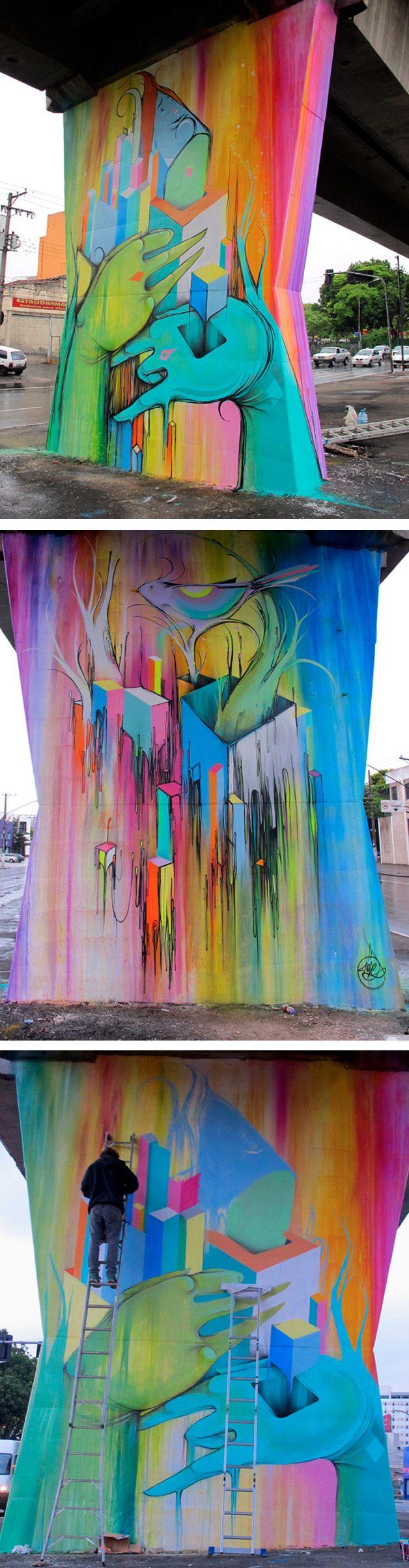 O graffiti do artista brasileiro Nove