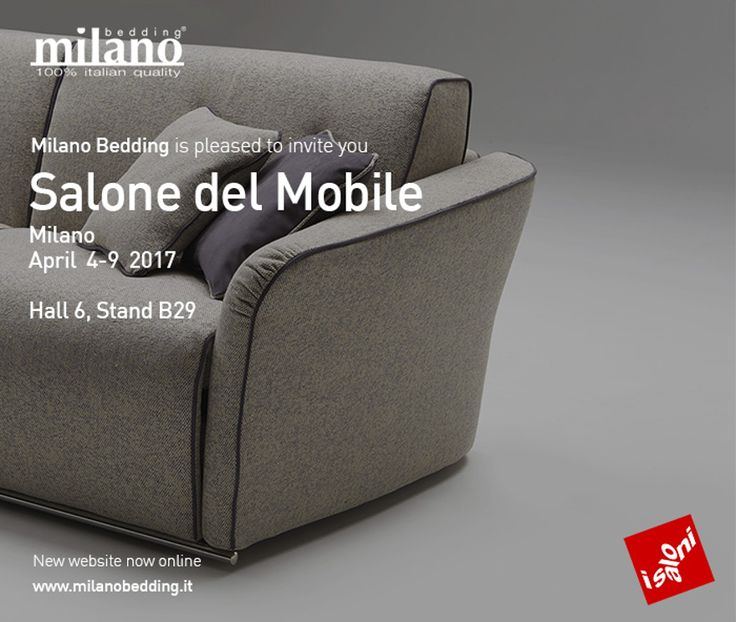 Milano Bedding at Salone del Mobile - Pav. 6 Stand B29  Seev you there!