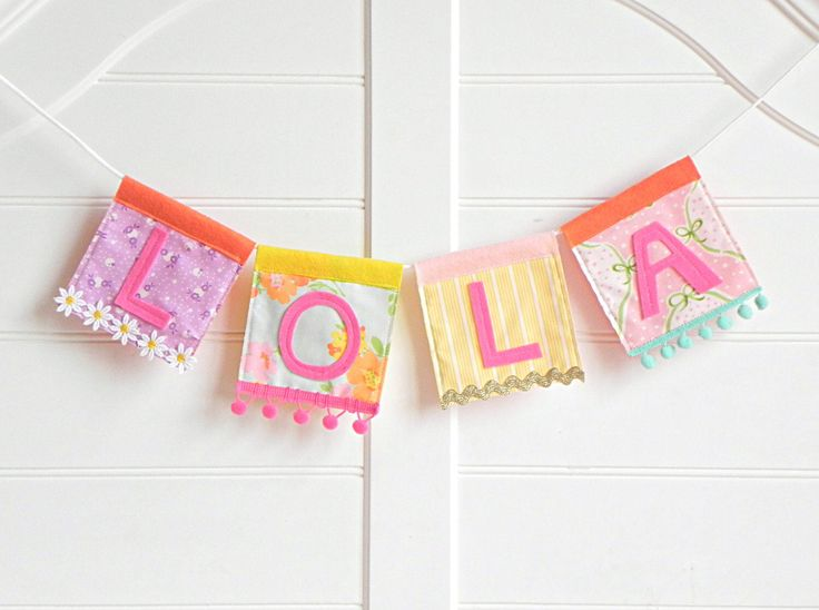 Name Garland, Personalized Garland, Felt Name Banner, Name Bunting, Baby Name Banner, Custom Name Garland, Name Banner, Pink Lemonade Party by AFeteBeckons on Etsy https://www.etsy.com/listing/516909382/name-garland-personalized-garland-felt