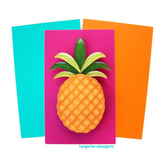 Take a trip to tropical shores with this fresh, sparkling pineapple brooch! This…