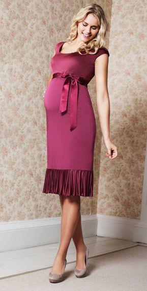 Lauren Maternity Dress (Raspberry Spice) by Tiffany Rose