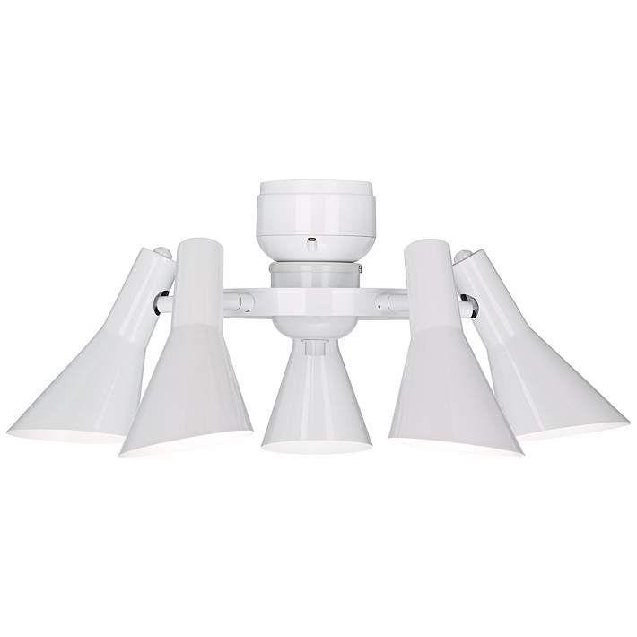 Modern Ceiling Fan Light Kit in White - #R1741 | Lamps Plus