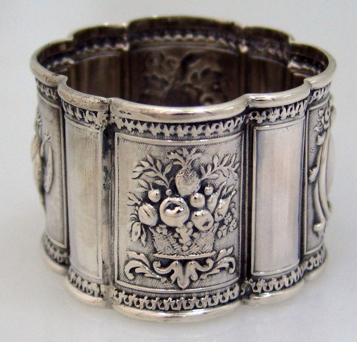 404 best antique silver napkin rings images on