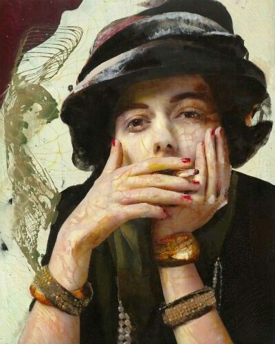 "Gypsy Living Traveling In Style| Serafini Amelia| Fine Art The Modern Period-Lita Cabellut - ""Coco Chanel"""