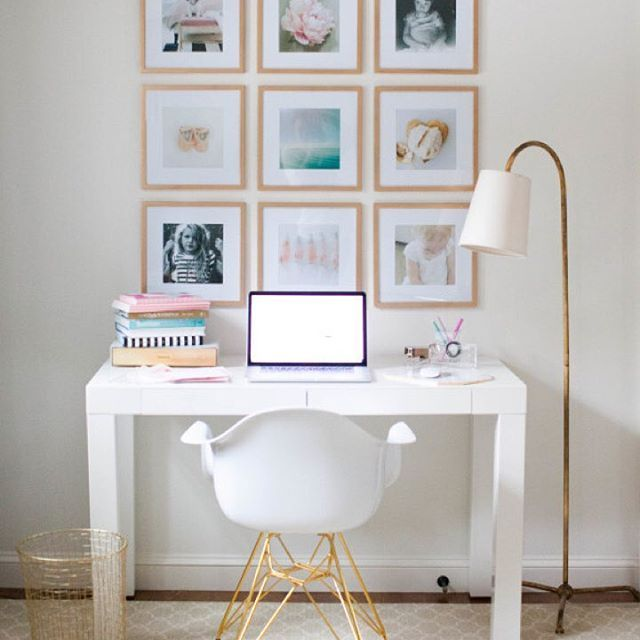 Today @abbydlarson is breaking down how to create the ultimate #Instagram photo #gallerywall! Thanks to @wayfair for the lust-worthy #deskchair and #frames! How-to via link in profile!