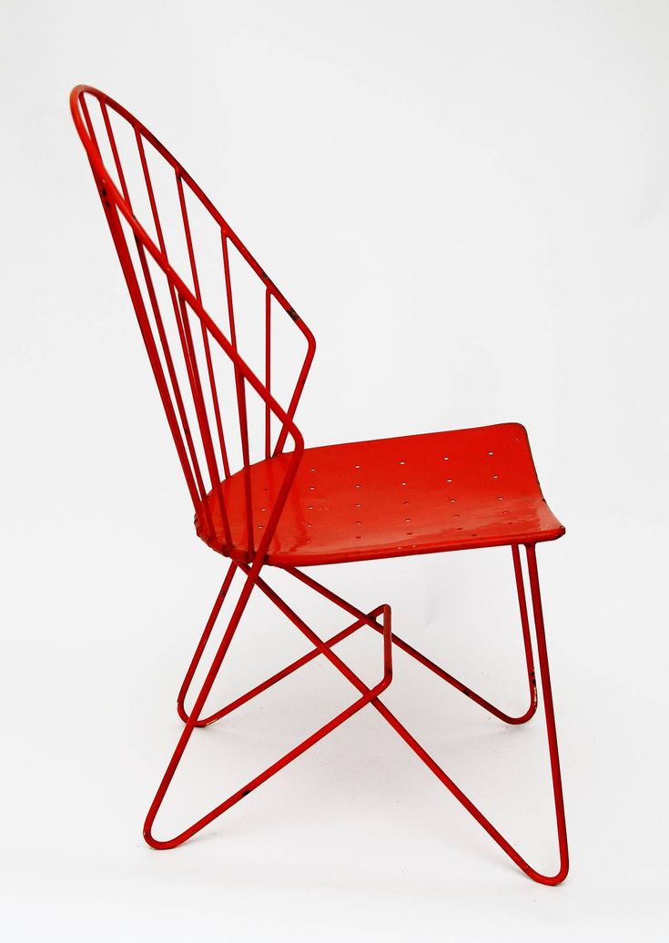 Enameled Metal U0027Sonnettu0027 Chair By Karl Forstel Sen.