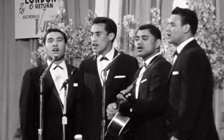 The Howard Morrison Quartet perform at Miss New Zealand 1963