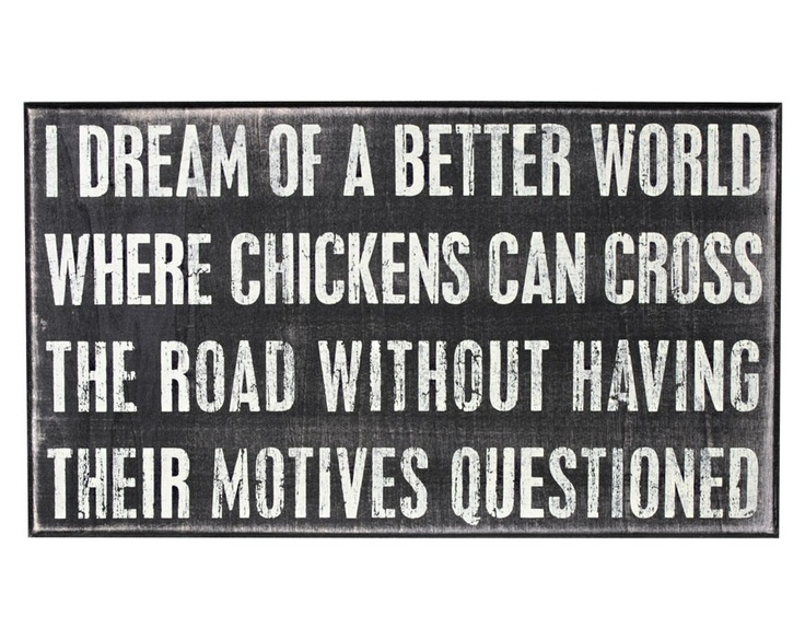 I am pinning this for my daughter! We saw a chicken cross