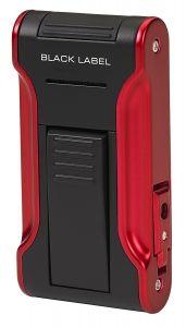 Black Label Dictator Flat Flame Lighter - Black Matte & Metallic Red