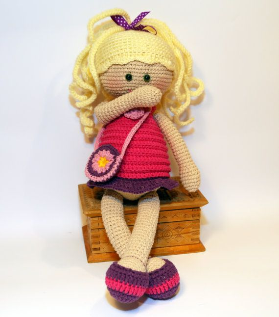 Handmade doll  Crochet doll  Cute toy for от SlingNecklaceAndToys