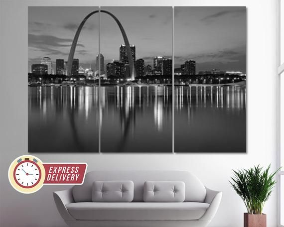 St Louis Canvas Art St Louis Skyline St Louis Print St Louis