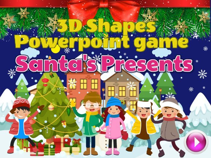 Christmas 3d Shapes Interactive Powerpoint Game With Sound Effects In 2020 Powerpoint Games Interactive Powerpoint 3d Shapes Powerpoint
