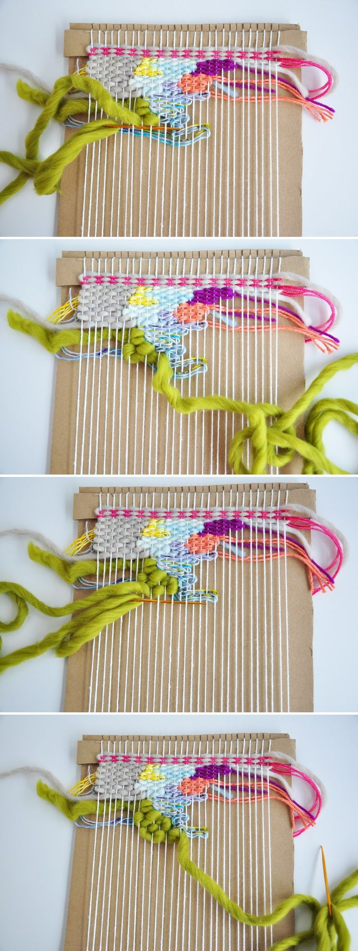 This fun weaving technique is great for beginners or if you need to work out of a creative block. Theres also a video!