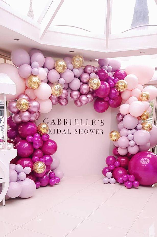 Wedding Balloon Backdrop Via Balloon Boutique Melbourne Wedding Balloons Bridal Shower Backdrop Bridal Shower Balloons