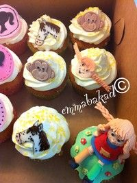 Pippi Longstocking cupcakes