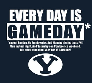Repin if you Love BYU - DailyLDS.com I'm seriously wearing that shirt right now...