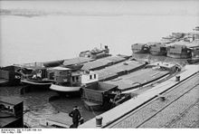 16the September 1940 Operation Sea Lion - the planned invasion of Britain, Invasion barges assembled at the German port of Wilhelmshaven