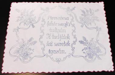 Hímezhető Falvédő F14 75x50 cm, szegett széllel - Falvédő - Hímezhető terítő napszöveten - Hímezhető Teritő - Rea Tex Kézimunka Webáruház