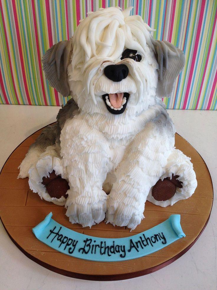Dog Shaped Cupcake Cake