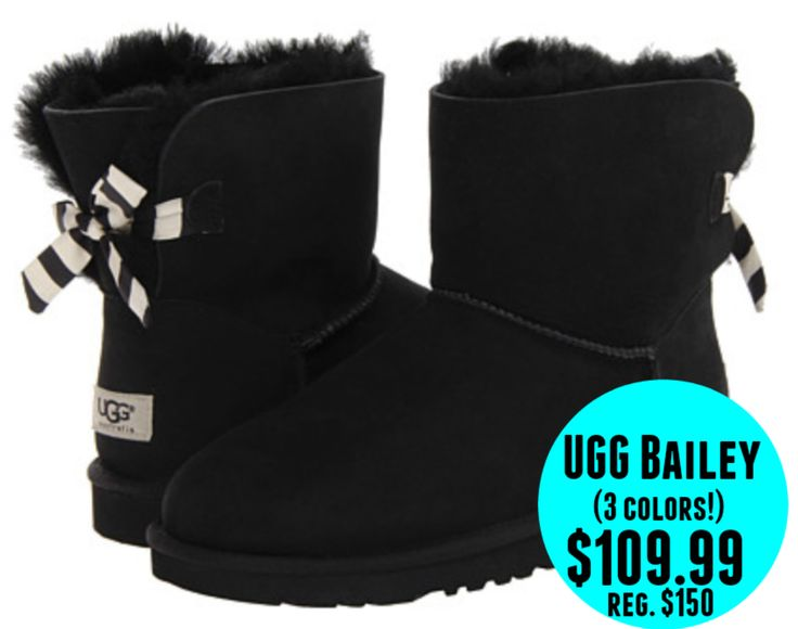 6pm: UGG Mini Bailey Bow Stripe Boots = $109.99 + FREE Shipping! Regularly $150!