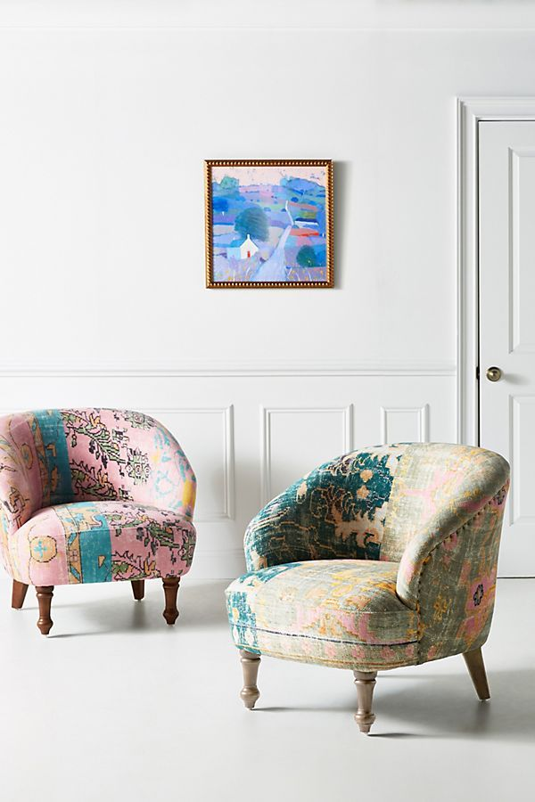 Incredible Rug Printed Simon Accent Chair In 2019 Printed Sofa Gmtry Best Dining Table And Chair Ideas Images Gmtryco