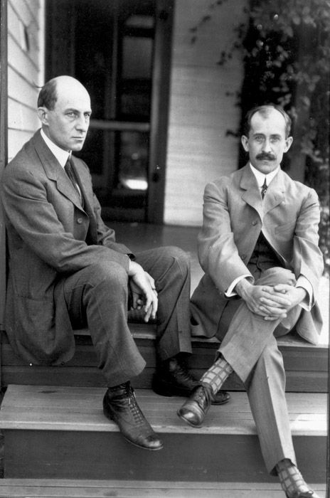 1908: The Wright brothers, Orville and Wilbur via reddit [[MORE]] For the National Siblings Day I couldn't think of a better post than this amazing duo.