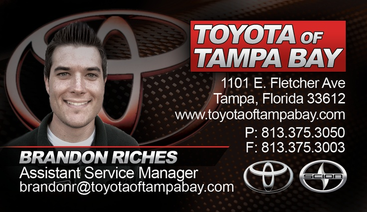 Business Cards for Toyota of Tampa Bay