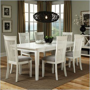 Standard Furniture Regency Dining Table with Leaf in White:  Boards, Dining Rooms Sets, Standards Furniture, House Ideas, Regency Rectangular, Rectangular Dining, Dining Sets, Dining Tables, Furniture Regency