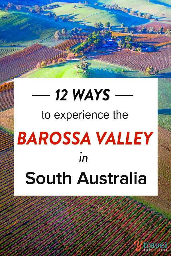 Travel bucket list experience - visiting the Barossa Valley Wine Region in South Australia