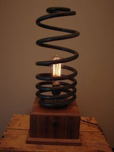 Industrial Spring Table Lamp.