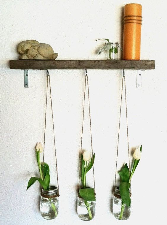 Hanging Wall Vases by Mowgis on Etsy, $45.00