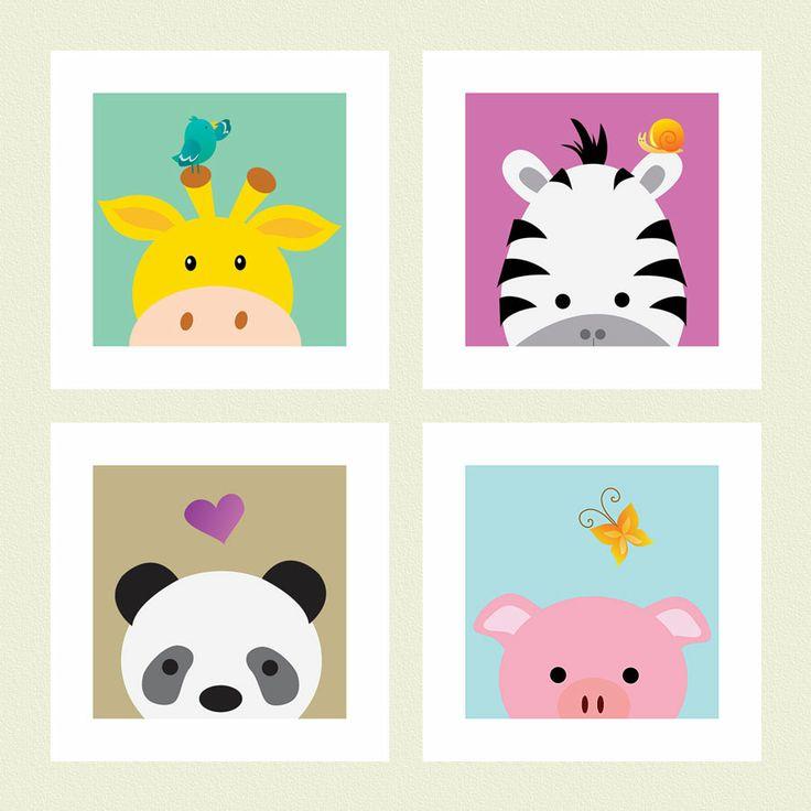 #DJ06, Animals, 30 x 30 cm, 4 pc.