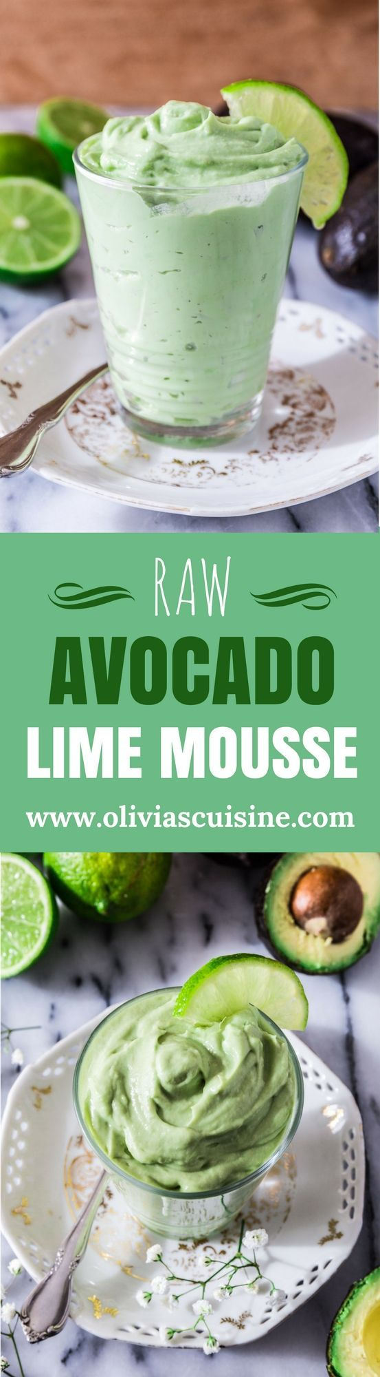 Raw Avocado Lime Mousse | www.oliviascuisine.com | Looking for a guilt free dessert? This Raw Avocado Lime Mousse will do the trick. Not only delicious but also heart check certified! ❤️️ Oh, and made with only 3 ingredients. What could be better than that? (Recipe by @oliviascuisine in partnership with @hassavocados.) #addavocado #LoveOneToday