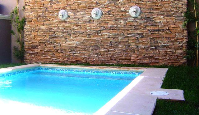 Alberca y muro de piedra albercas pinterest - Muros de piedra ...