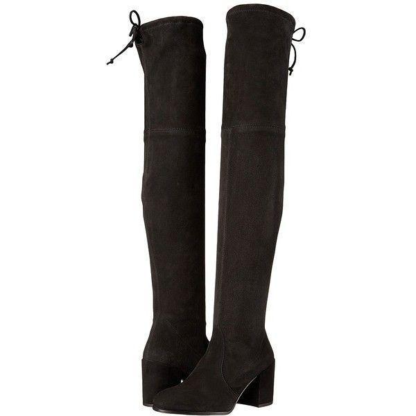 c381d4220d1 Stuart Weitzman Tieland (Black Suede) Women s Shoes ( 798) ❤ liked on  Polyvore