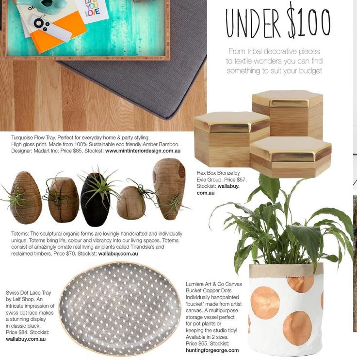 Sitting Totems, Tray and Hex Boxes in the latest Winkelen September issue 2014! www.wallabuy.com.au