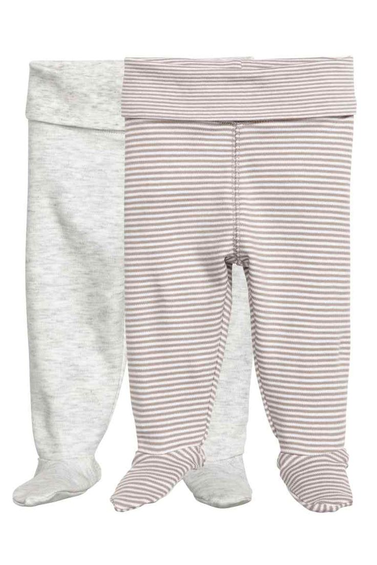 2-pack leggings with feet   H&M