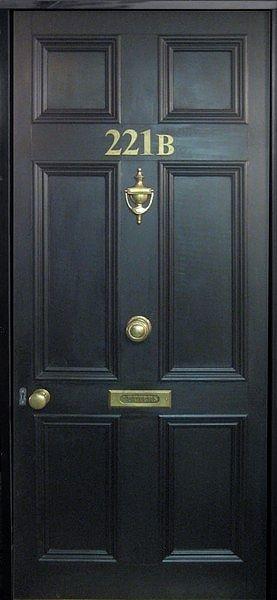 221b door for my bedroom closet. Barn door style.