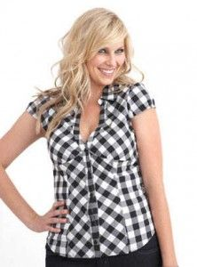 camisas a cuadros para mujer de moda tallas grandes 7