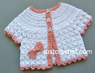 Free baby crochet pattern summer cotton top usa - http://www.justcrochet.com/cotton-top-usa.html
