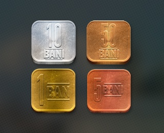 Romanian coins -iOS version by Paul Flavius Nechita (via Creattica)