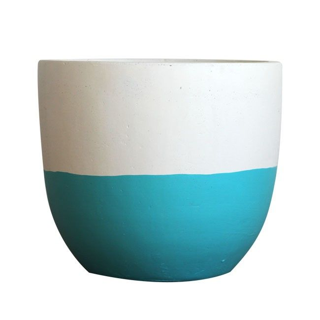 Pop & Scott Aqua Dipped Pot from Hunting for George via The Third Row