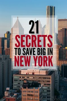 Traveling to New York? Check out this list of 21 Ways to Save in New York City with some our our favorite tips, tricks and secret ways to save in NYC. There's no reason a trip to the Big Apple has to break the bank. You can travel affordably and still hav http://tracking.publicidees.com/clic.php?progid=2184&partid=48172&dpl=http%3A%2F%2Fwww.promovacances.com%2Fvacances-sejour-hotel%2Fvoyage-hotel-new-york%2Fgrandes-villes-cote-est-etats-unis%2F