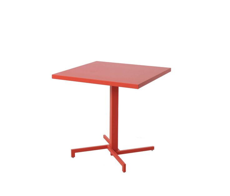 Folding square table steel sheet top 75x75