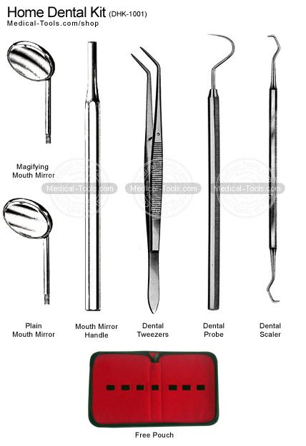 Home Dental Kit Dental Instruments Medical Tools Shop - Kit with several tools useful for electronics