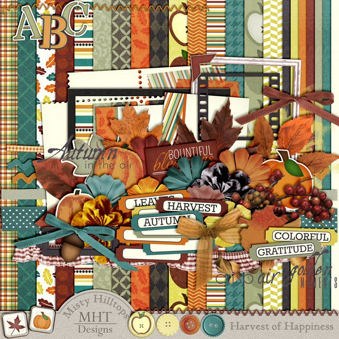FREE Freebie Friday : Harvest of Happiness By MHT Designs [ Total 5 Parts ]. *