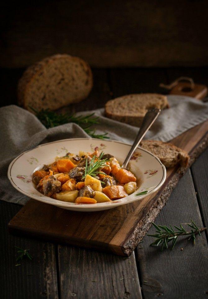 Рецепт - Жаркое из тыквы с олениной
